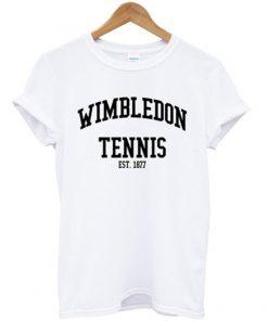 wimbledon tennis est 1877 t-shirt