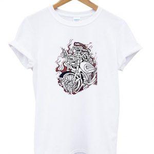 skull fire riders t-shirt