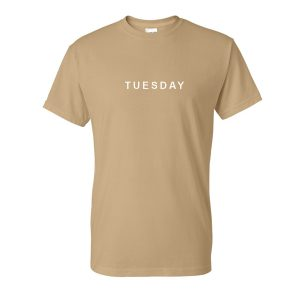 tuesday font tshirt