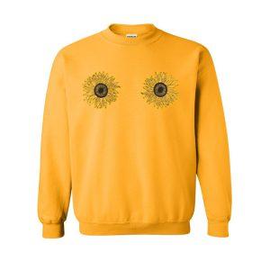 sunflowers boobs sweatshirt