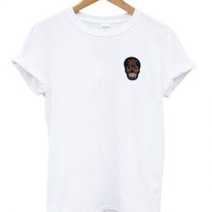 suspicious skull t-shirt
