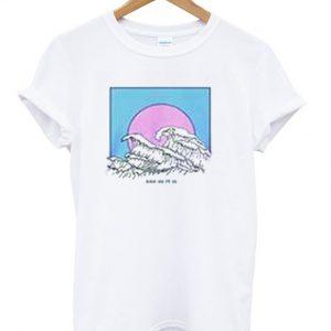 surf japanese summer t-shirt