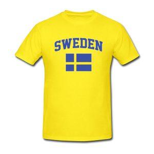 sweden yellow tshirt