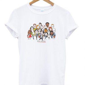 the office cast cartoon t-shirt