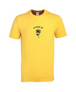 over it rose flower tshirt