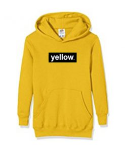 yellow font hoodie