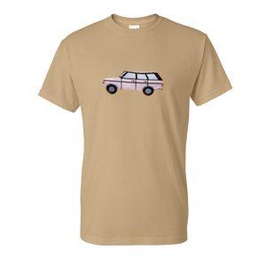 vintage pink car tshirt