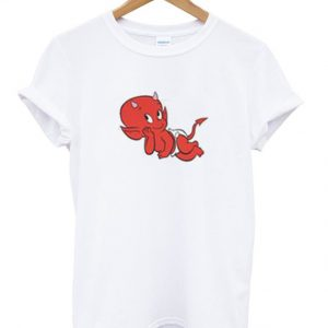 the little devil laying down t-shirt