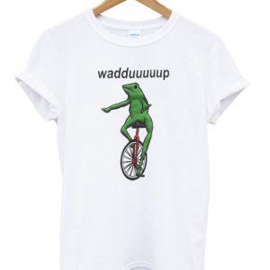 wadup frog t-shirt