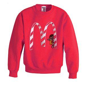 vintage mc donald's christmas sweatshirt