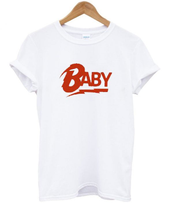 baby logo bowie t-shirt