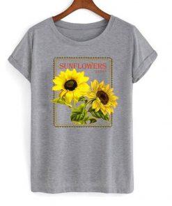 sun flowers seeds t-shirt