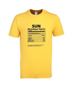 sun nutrition fact tshirt