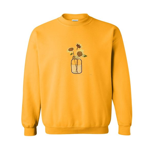 sun flower in the pot sweatshirt