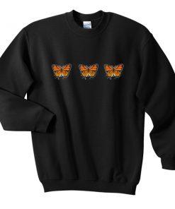 three butterfly sweatshirt
