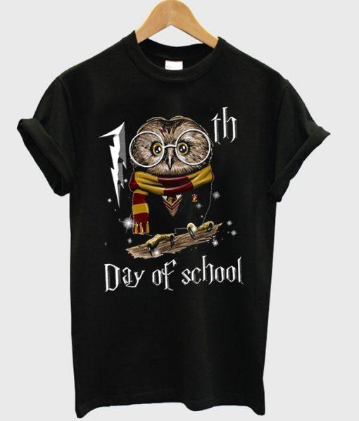 owl 100th day of school t-shirt