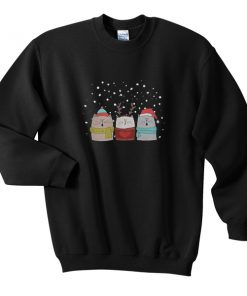 three cat sing christmas sweatshirt