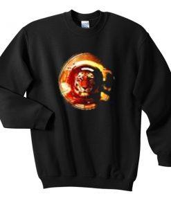 tiger astronaut sweatshirt