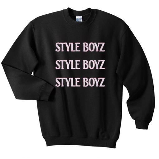 style boys sweatshirt