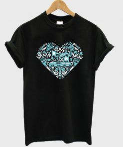 sewing heart t-shirt
