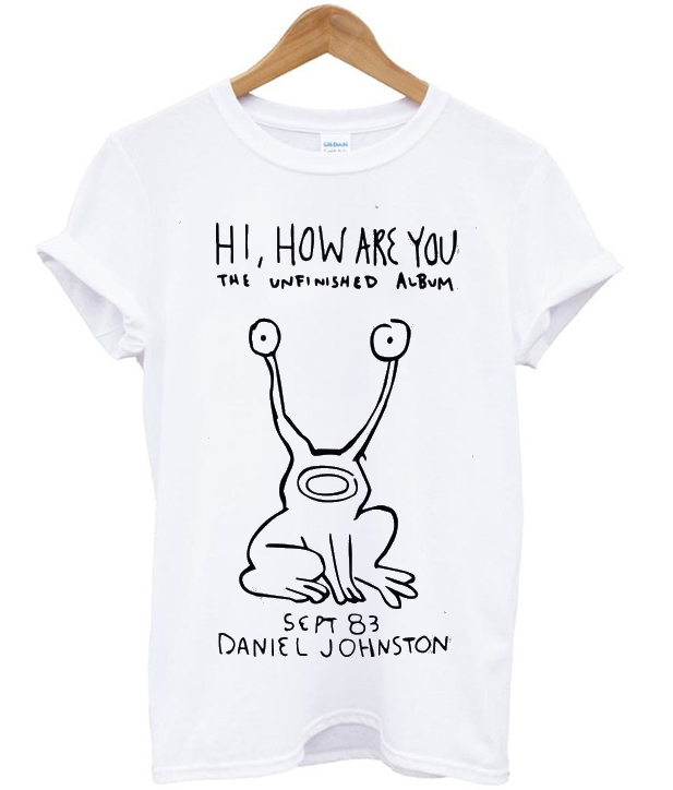 the unfinished album daniel johnston t-shirt
