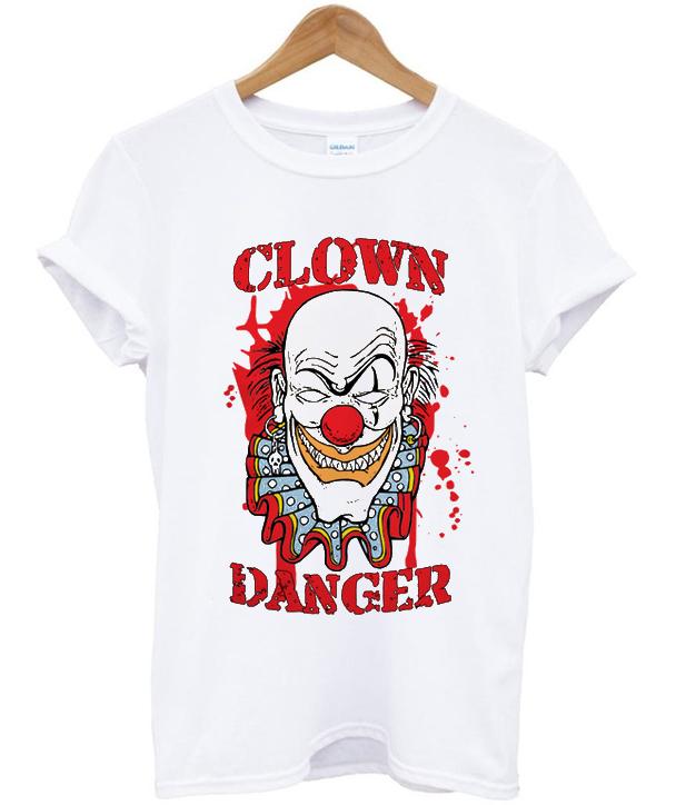 clown danger t-shirt