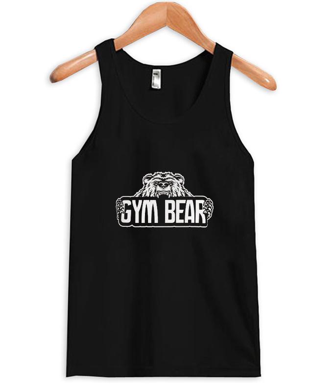 gym bear tank top